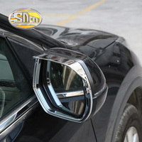 2PCS For Honda CR V CRV 2017 2018 SNCN Car Rearview Mirror Eyebrow Cover Chrome ABS