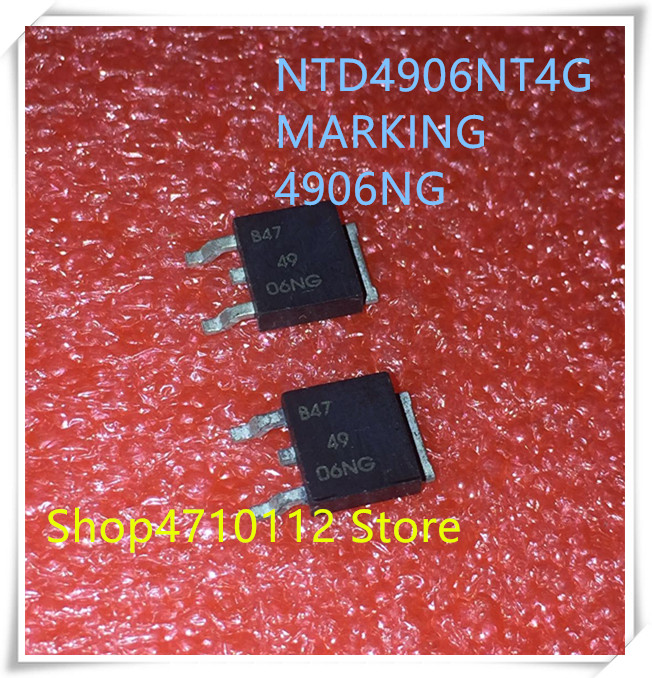 NEW 10PCS/LOT NTD4906NT4G NTD4906 4906NG 49 06NG  30V 68A TO-252 IC