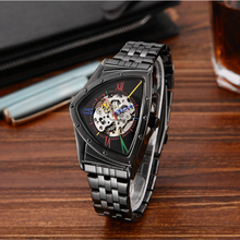2019 new style Transformers series high quality Stainless steel Triangle shape Skeleton Mens Automat