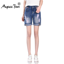 Plus Size 2018 Summer Shorts Women Denim Shorts Straight Cuffs Pantalon Femme Slim Girl Short Jeans All-Match Feminino