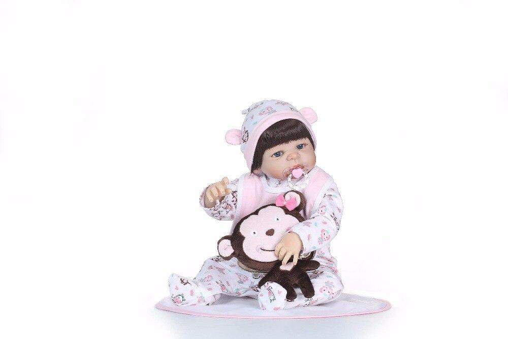 NPK 56 centimetri corpo pieno di Silicone reborn baby Doll Caldo ToyReborn Bambole Giocattoli Per bambini Carino Principessa FAI DA TE Bambole Ragazzo ragazza Brinquedos Regali-in Bambole da Giocattoli e hobby su  Gruppo 2