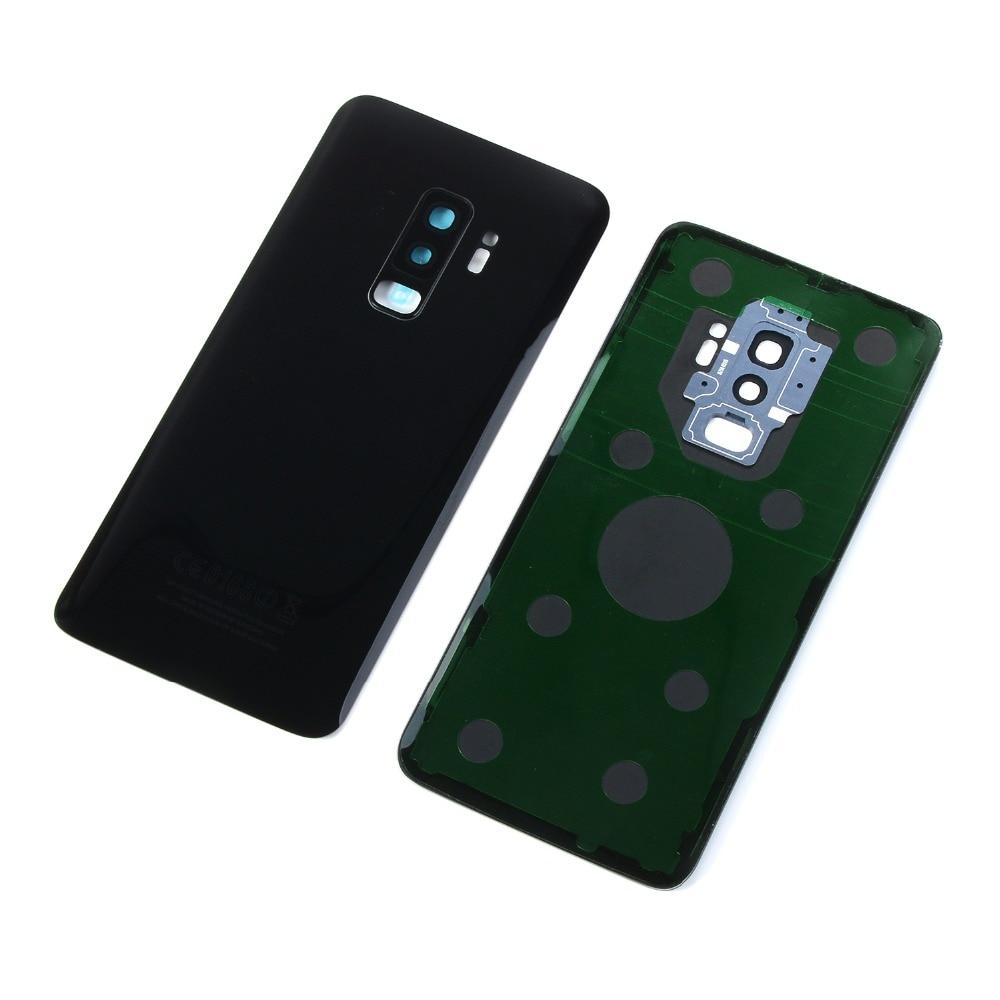 For Samsung Galaxy S9 G960 G960F S9+ S9 Plus G965 G965F Housing Battery Glass Back Cover+Camera Lens Cover+Sticker