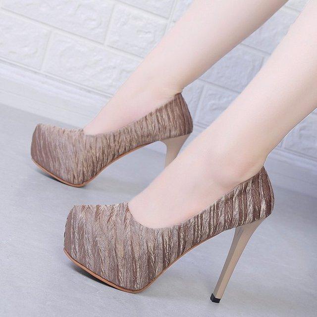 HOT 2019 Sandalia Feminina Summer Gladiator High heels Peep Toe sandals casual shoes woman Waterproof platform sandals  F245