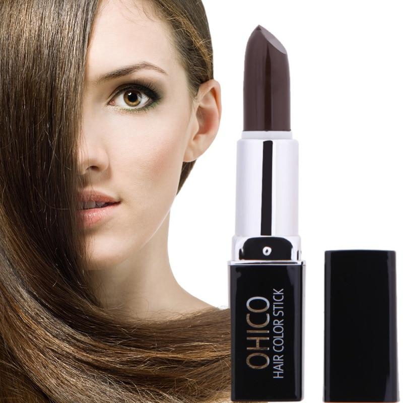 Color de cabello Color de tinte para el cabello Fácil Temporal No tóxico Bricolaje Mascara para el cabello Color Crema para el cabello Color Crayón