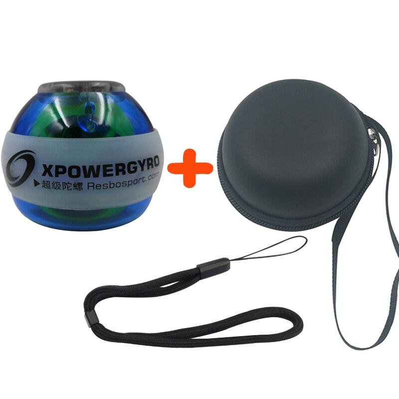 12000 RPM 30LBS Poder Gyroscope LED Wrist Strengthener Bola de Energia PVC Velocidade Contador Mão Antebraço Força Bola Spinner 6 Cor E