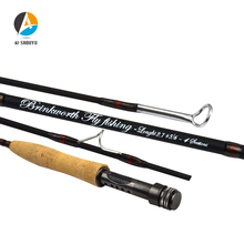 AI-SHOUYU New Arrival Fly Rod Carbon Fiber Fast Action Fly Fishing Rod 4 Section Soft Cork Handle Fishing Tackle 5wt fly rod combo 9ft carbon fiber fly fishing rod