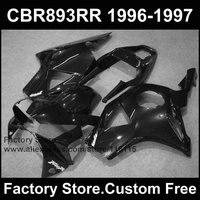 Пользовательские ABS обтекатель наборы для HONDA CBR900RR 96 97 CBR CBR 893RR 1996 1997 fireblade черный мотоцикл 893/гонки обтекатели комплект