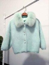 2016 New Ladies BianFuShan short mink mink cashmere cashmere cardigan coat fox fur thick loose sweater
