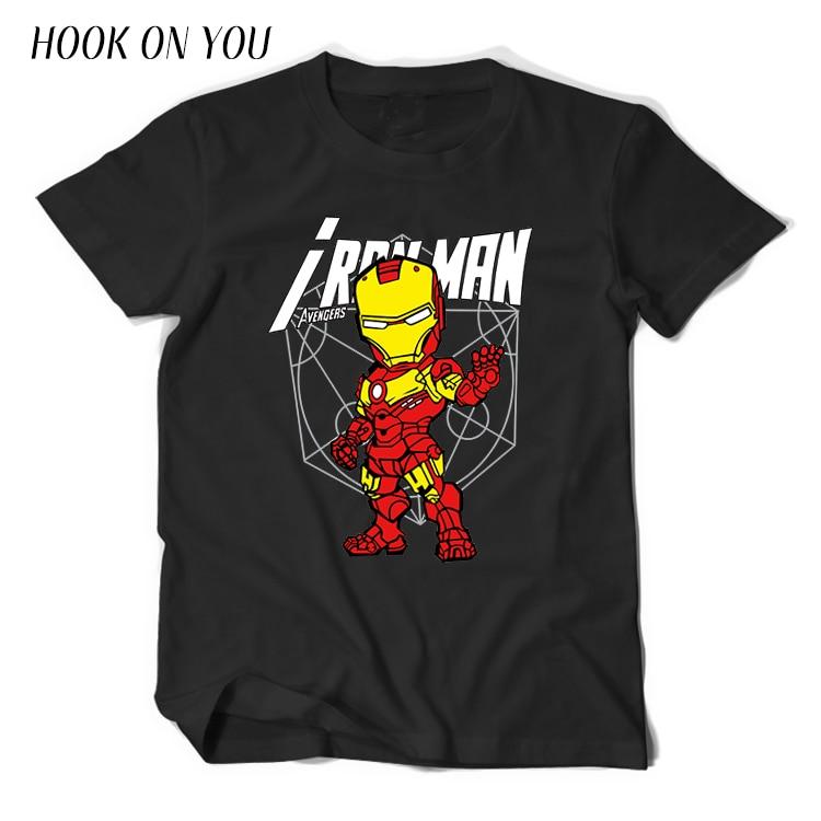 Cartoon The Avengers   T  -  Shirt   Men Boy   T     Shirt   Marvel Comic Movie   T     shirt   Clothing Super Hero Tee Hulk Captain America Iron Man