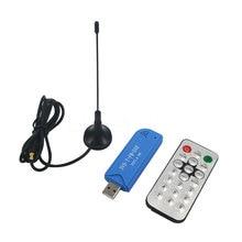 1 unids Mini Equipo de Vídeo TV Dongle de DVB-T + DAB + FM + RTL2832U + R820T2 Digital USB 2.0 Stick de TV Soporte SDR Sintonizador receptor + Antena