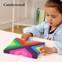 2018 New Wooden Puzzle Right Angle Puzzle Games Educational Toys For Children Jigsaw Puzzle Wood Developing Toys For Boys Girls