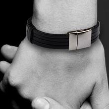 Модные мужские ювелирные изделия черный коричневый кожаный браслет