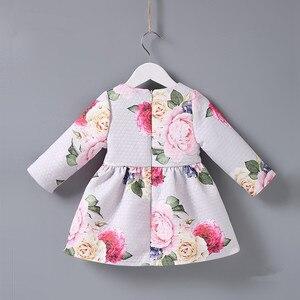 Image 2 - Bahar çocuk marka elbiseler A line çiçek gül bebek kız elbise zarif prenses elbise kız elbise 0 2T