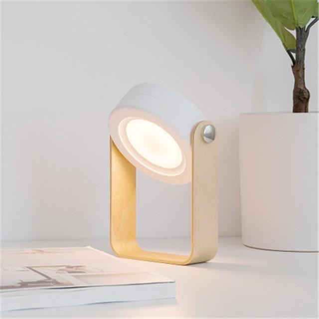 Bois De Créatif Usb Led Support Nouvelle En Veilleuse Lanterne Portable Rechargeable Cadeau Lampe Bureau 2019 Chevet MpUzqSV
