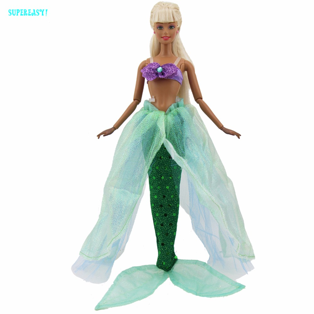 Gorgeous Fairy Tale Mermaid Outfit Sea Princess Party Dress Bra Top ...