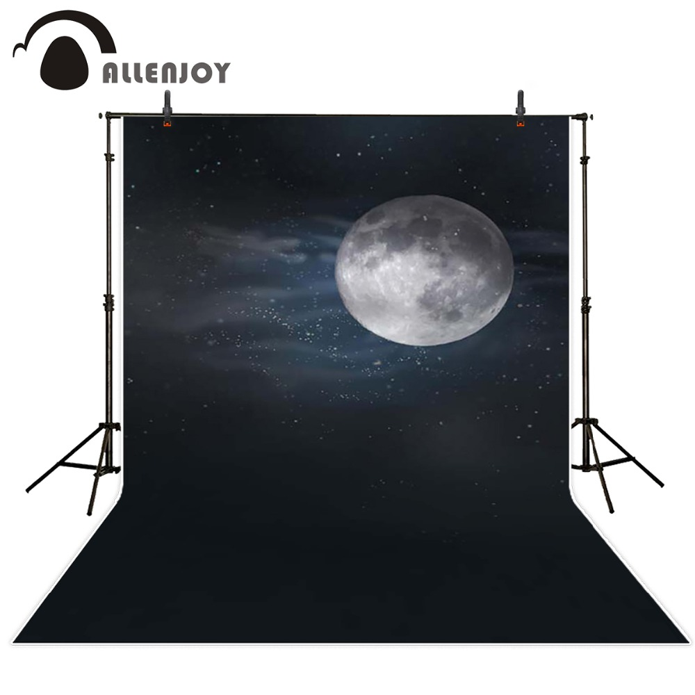 Photography background night of the full moon newborn boy props space Allenjoy backdrops