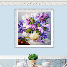 Purple Lavender Romantic Flower Diamond Embroidery Paimnting DIY Mosaic Painting Beaded Full Drill Floral Decor Crafts