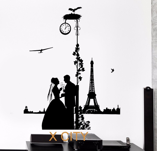 Aliexpress Com Buy Romantic Lovers In Paris Silhouette
