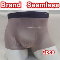 2pcs Box High Quality Mens Boxers Underwear Brand Comfortable Panties Breathable Seamless Briefs Men European African