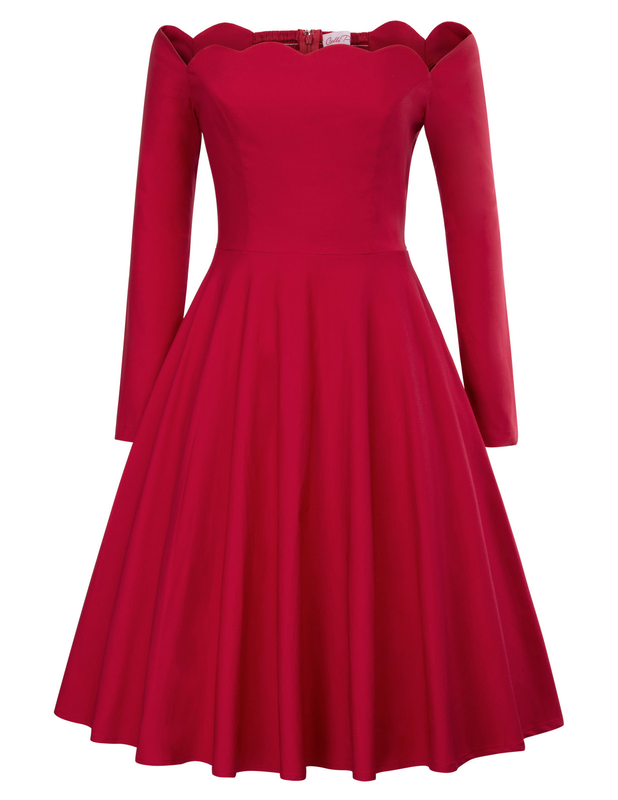 Vintage dresses 50s 60s green black red Sexy Women Long Sleeve Off Shoulder pin up party Retro Dress