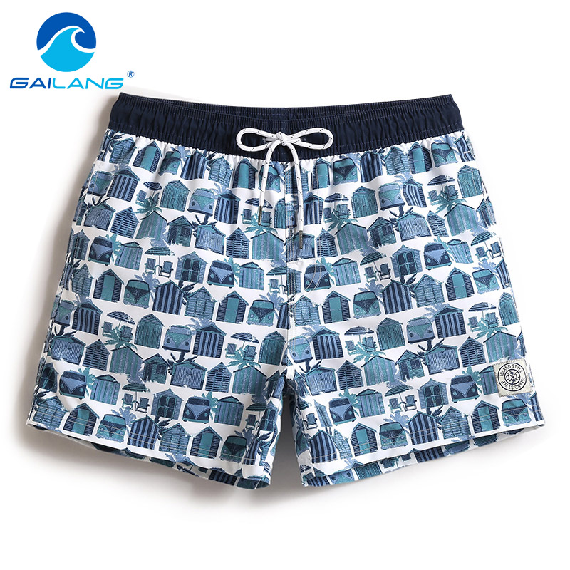 Gailang Brand Mens Beach Shorts Trunks Swimwear Men's Board Shorts Casual Nylon Bermudas Masculina Marca Boardshorts Fast Dry