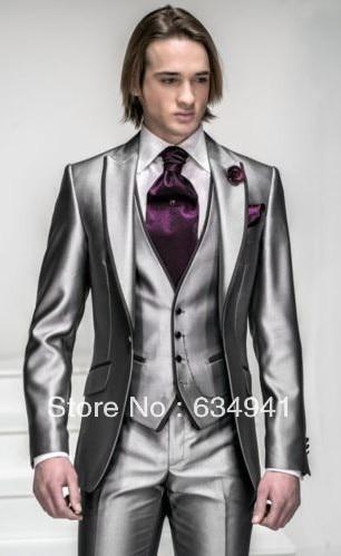 Best Groom Wedding Tuxedos Groomsmen Man For Suit Prom Men Suit