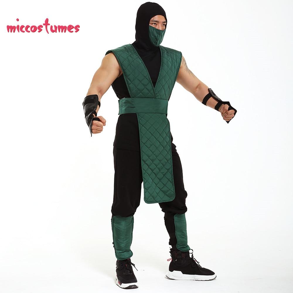Mortal Kombat 3 Reptile Cosplay Costume Custom-Made Green