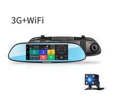 АВТОМОБИЛЯ Черного Ящика 3 Г Камеры Автомобиля DVR GPS Bluetooth с Двумя Объективами Зеркало заднего вида Видеорегистратор FHD 1080 P Автомобильный ВИДЕОРЕГИСТРАТОР Зеркало Тире cam