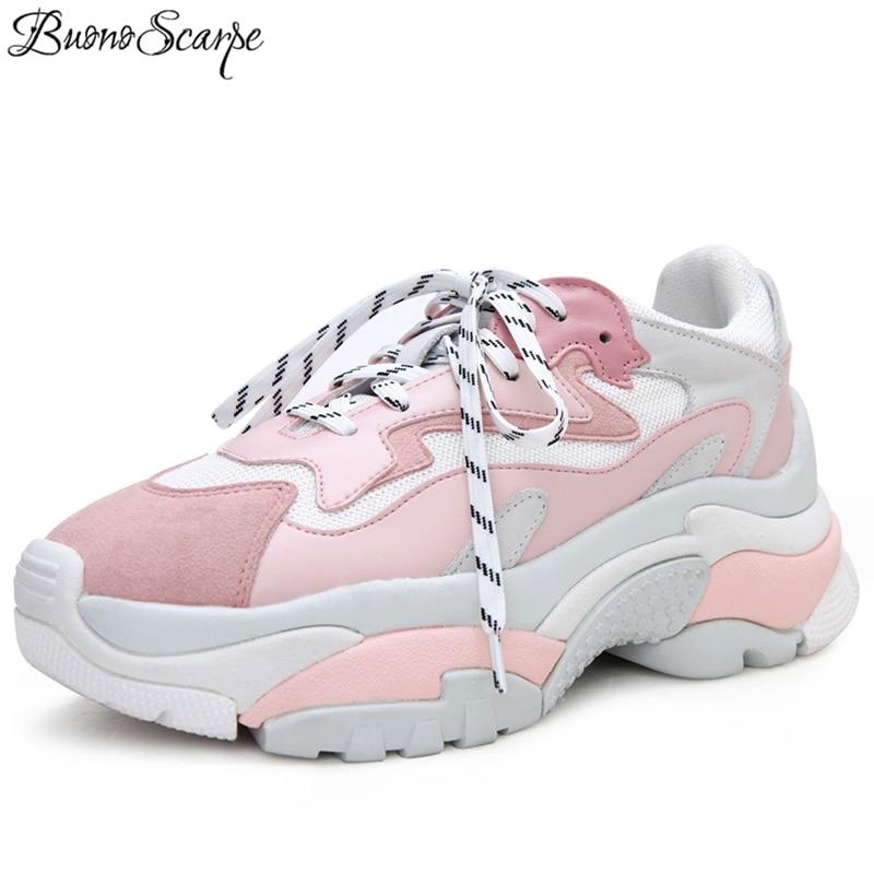 Ayakk.'ten Vulkanize Kadın Ayakkabıları'de BuonoScarpe Platformu Topuk Ayakkabı Kadın Sürüngen Rahat düz ayakkabı Bayanlar Seyahat Bayan Kadın Ayakkabı Kalın Taban Baba Sneakers'da  Grup 1