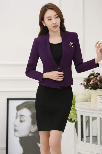 Online Shop Novelty Purple Slim Fashion Professional Blazers Suits
