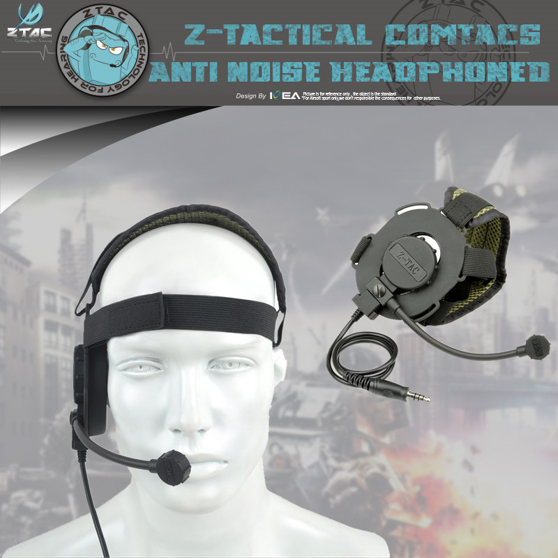 Z TAC Unilateral headphones Z029 Military Bowman Evo III Headset Hunting Walkie Talkie Headset in Walkie Talkie Parts Accessories from Cellphones Telecommunications