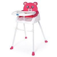 Портативный складной детские обеденный стул многофункциональный Регулируемая высота и пластины pp Материал Детские стульчики для кормлени