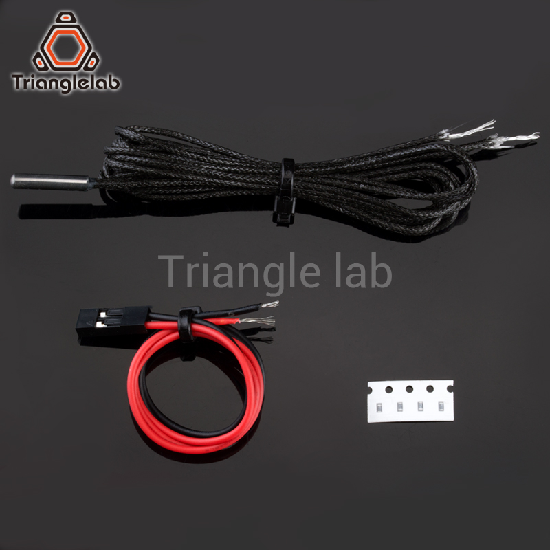 Trianglelab PT1000 Thermistor Cartridge for 3D printer E3D Volcano  v6 heater block UPTO 450C PEEK PEI PT100 printing