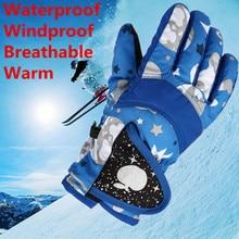 Фотография New 1 Pair Child Winter Warm Waterproof Windproof Snow Snowboard Ski Sports Gloves no1