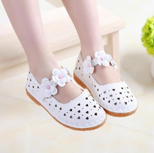 Summer Girls New Fashion Hot Sale Flowers Shoes Princess Single Shoes For Children Pretty PU Sneakers Flat Kids