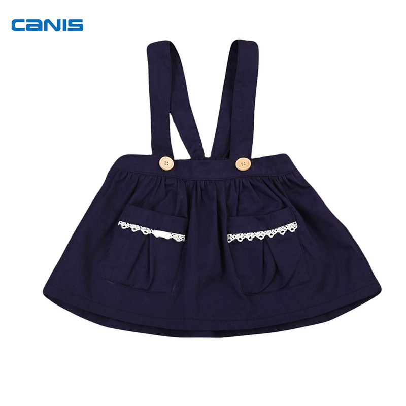 Fashion Cute Autumn Kids Baby Girls Lace Overall Brace Party Tutu Sleeveless Skirt Autumn Spring Sweet Clothes Outfit 6M-3Y