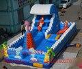 Parque de diversões bouncer de salto inflável parede de escalada/recreio ao ar livre inflável grande trampolim