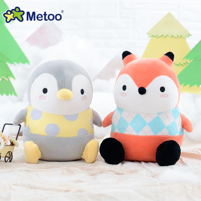 20cm Ball Squat Kawaii Stuffed Plush Animals Cartoon Kids Toys for Girls Children Baby Birthday Christmas Gift Metoo Doll cute beauty and the beast plush stuffed baby toys for children cartoon aciton figure plush doll kids girls christmas gift 20cm