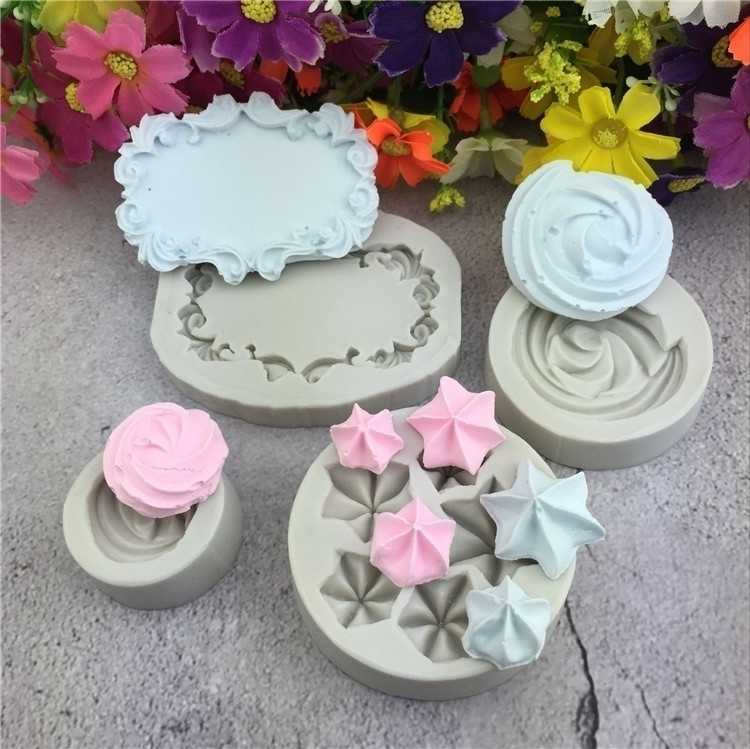 Lollipop Cream Frame Cheese Love Shaped Silicone Model Fondant Mold Plaster Mold Cake Decorating Tool  Bakery Tools