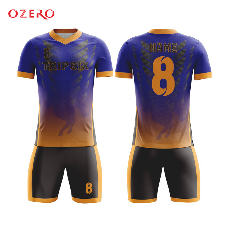 Soccer Jerseys Soccer Bright Slim Fit Quick Dry Royal Blue Cutting And Sewing Mesh Practice Club Soccer Jersey T Shirt And Short A Great Variety Of Models