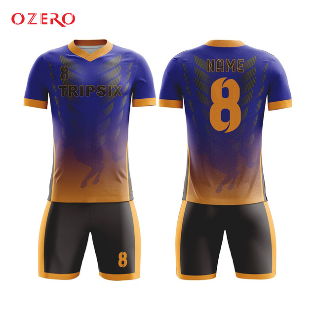 bedf5f22548 slim fit quick dry royal blue cutting and sewing mesh practice club soccer  jersey t shirt and short