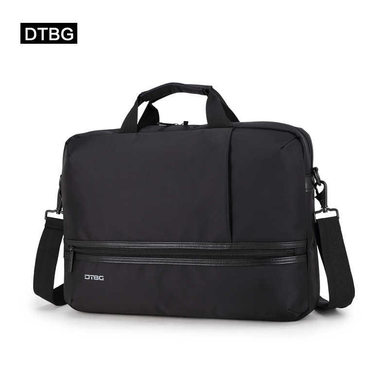 ed8a9131f DTBG clásico maletín portátil de las mujeres de los hombres de negocios,  bolso, dos