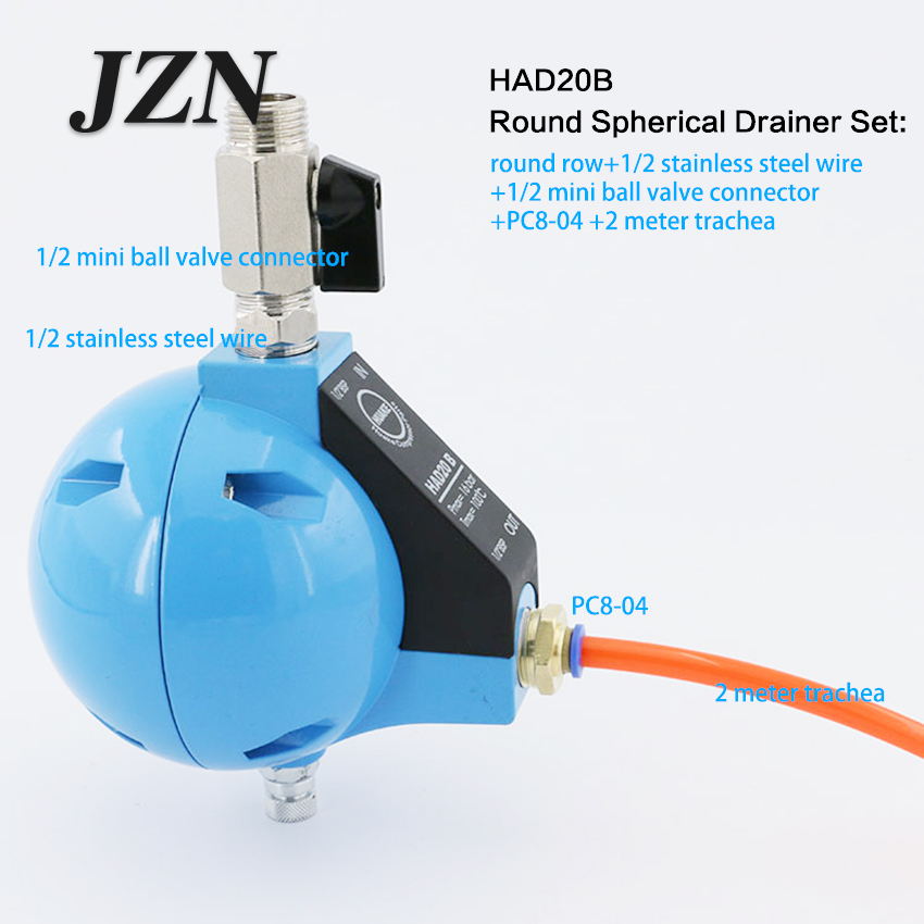 Free shipping ( 1 PCS ) SCP Air Compressor Cold Dryer Ball Float Automatic Water Dispenser HAD20B Drain Valve 1/2 BSPFree shipping ( 1 PCS ) SCP Air Compressor Cold Dryer Ball Float Automatic Water Dispenser HAD20B Drain Valve 1/2 BSP
