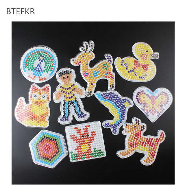 5mm 3D Puzzle Pegboards Patterns Templates for Hama Beads Toys Perler Beads Educational Toys for Children  Handmade Art