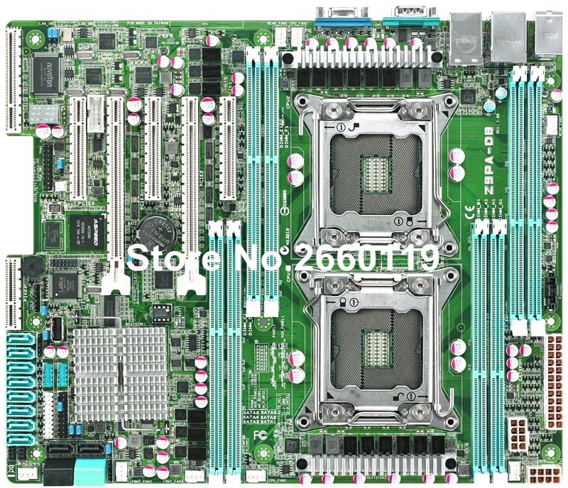 Server motherboard for Asus Z9PA-D8 C602 LGA2011 system mainboard fully tested