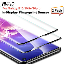 2 PCS For Samsung Galaxy S10 / Plus S10e Tempered Glass 9H 3D Premium Screen Protector Film with Fingerprint Sensor