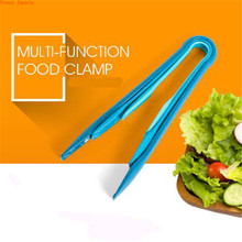 3 pieces set kits (6/ 8/10 inches) 4 colors bread sandwich tongs environmental PP material vegetable kitchen food cake clip 3in1