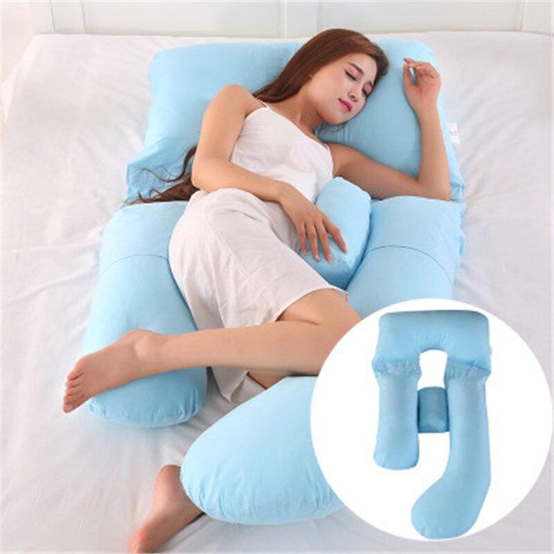 Беременность Подушка многофункциональное постельное белье полное тело подушки для беременных Для женщин мягкая G-Форма подушки милые моющ...