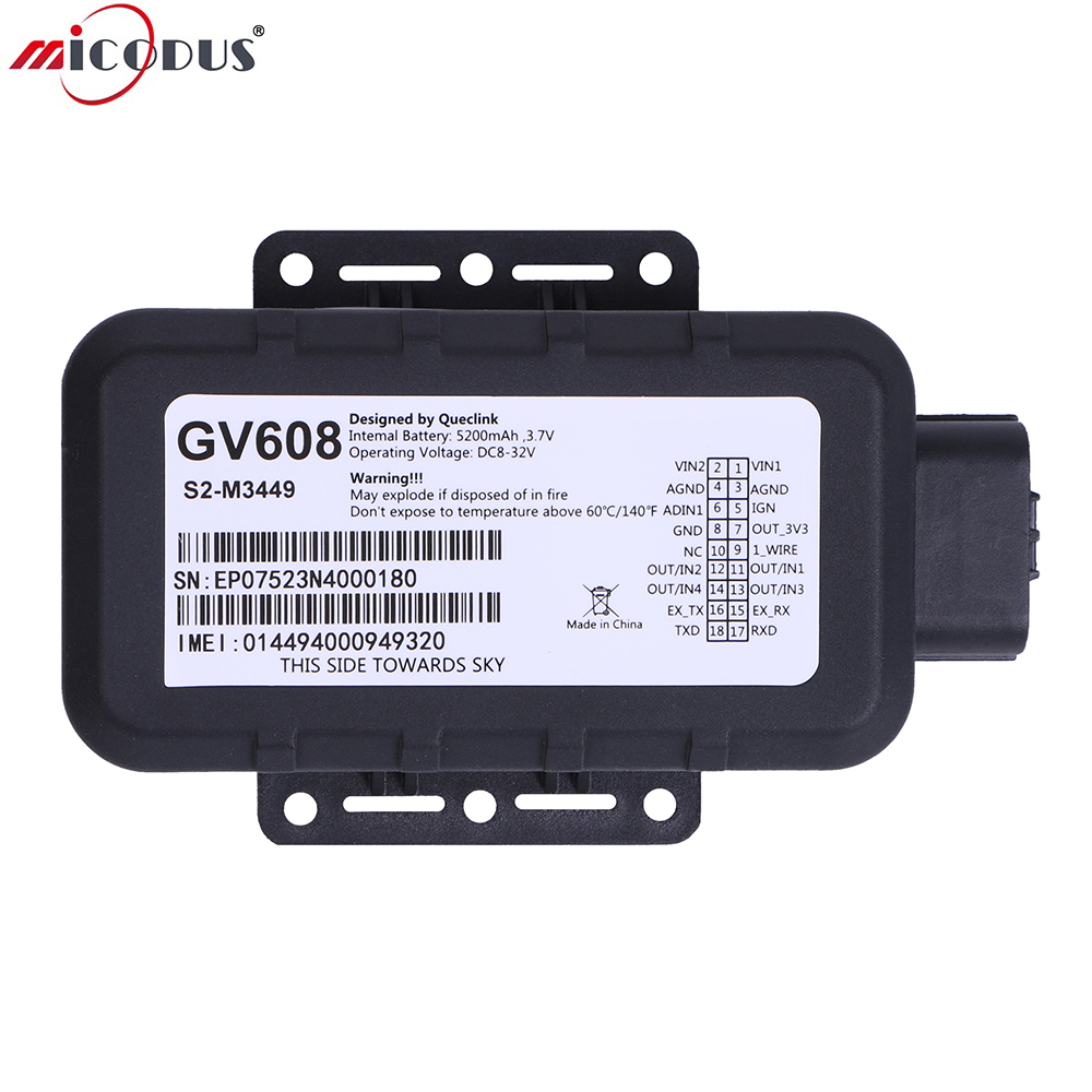 GV608 Waterproof font b GPS b font Tracker 5200mAH Battery Car Voltage Range 8V to 32V