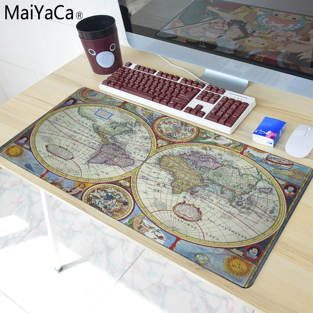 MaiYaCa Old Map Design Mouse Mat Silica gel Gaming Mice Pad Christmas Gifts 30x60cm For  ...